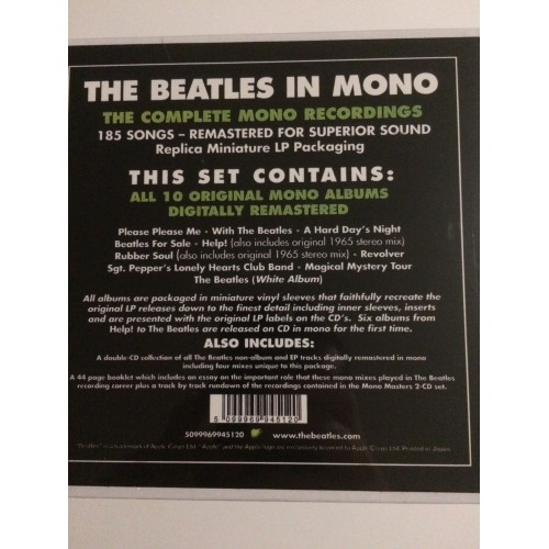 Beatles in mono 13 CD Box remastered (in verpakking)