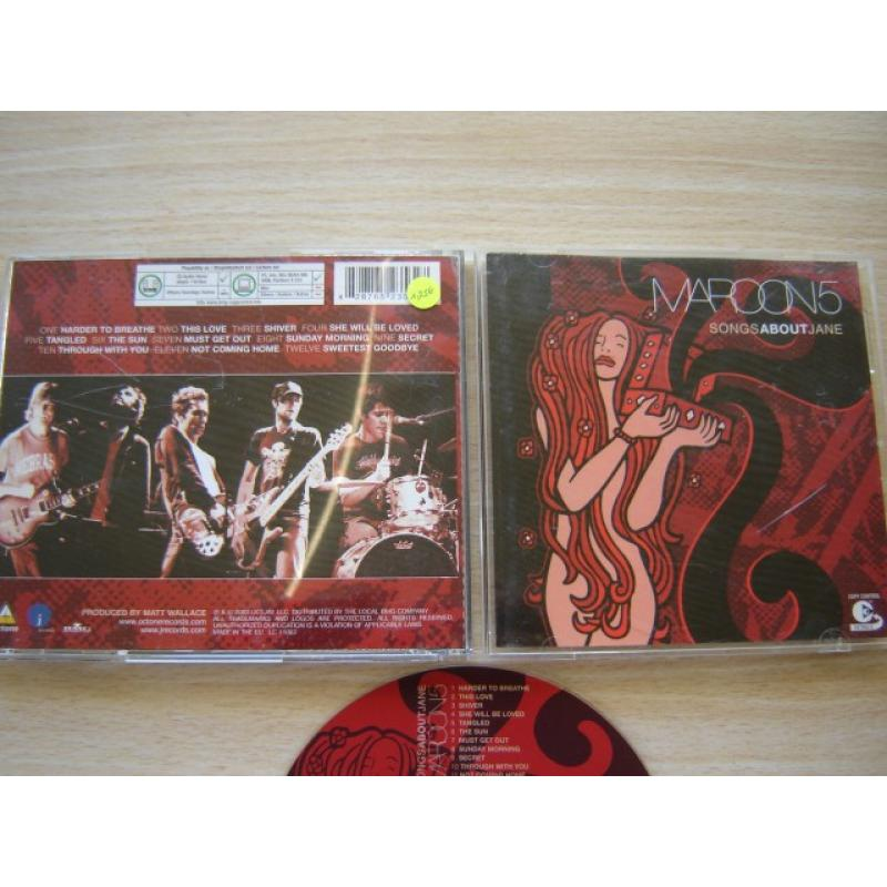 cd:maroon 5:songs about jane